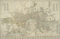 Cary's new and accurate plan of London and Westminster, the borough of Southwark and parts adjacent viz. Kensington, Chelsea, Islington, Hackney, Walworth, Newington, &c. with an alphabetical list of 500 of the most principal streets with references to their situation